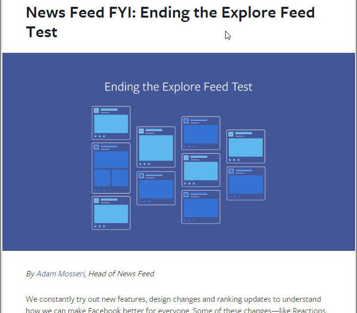[페이스북] 2018 뉴스피드 알고리즘 변경 선언, 그 후?
