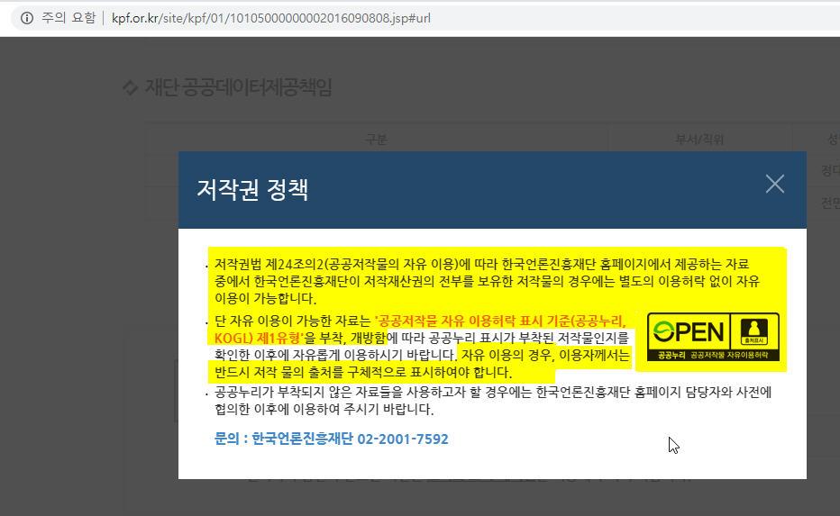 한국언론진흥재단_저작권정책
